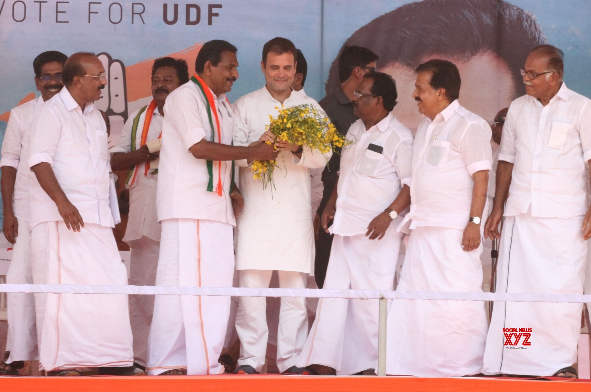 Pathanamthitta: Rahul Gandhi during Congress rally #Gallery
