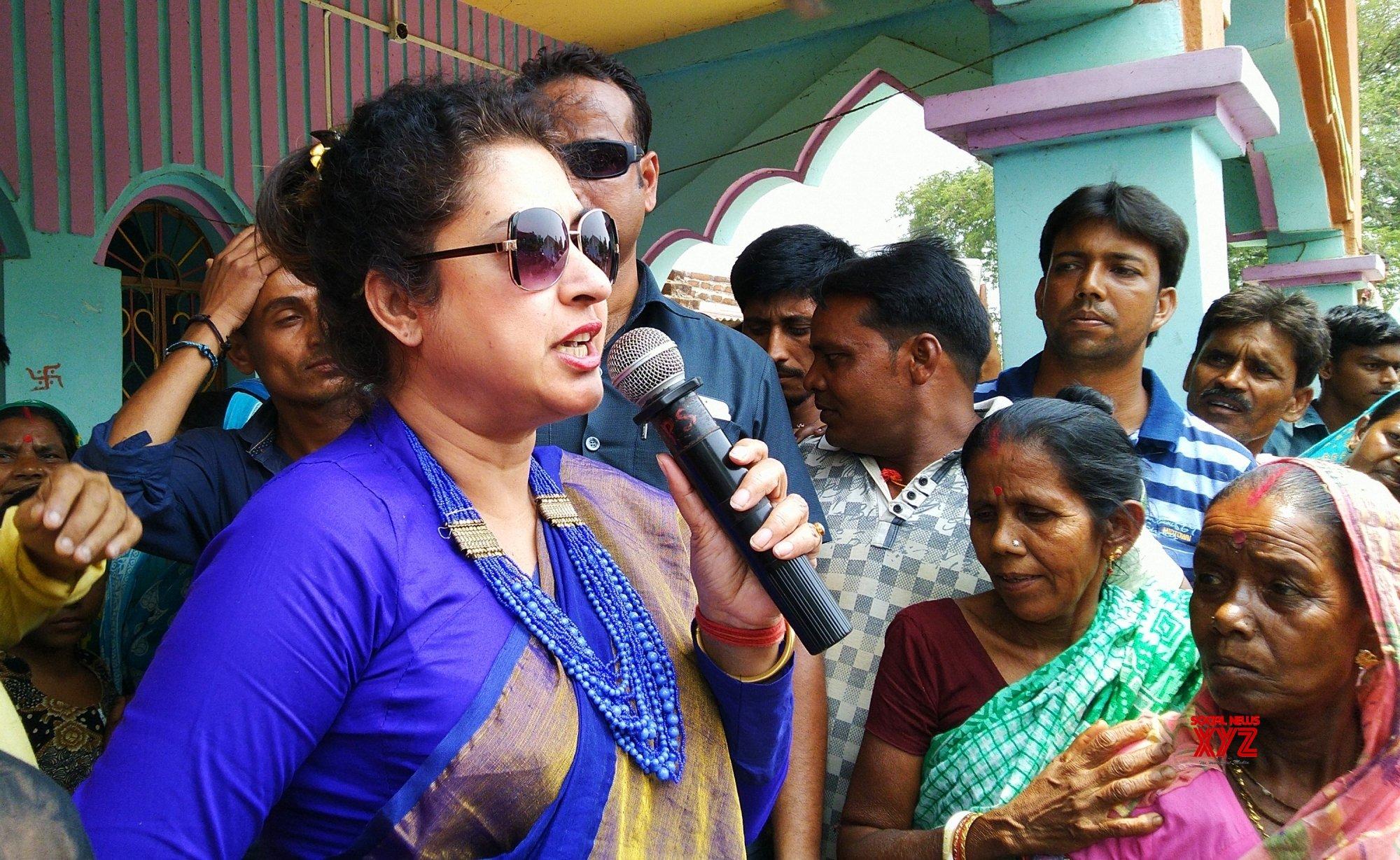 Birbhum (West Bengal): 2019 Lok Sabha elections - TMC's Satabdi Roy during poll campaign #Gallery