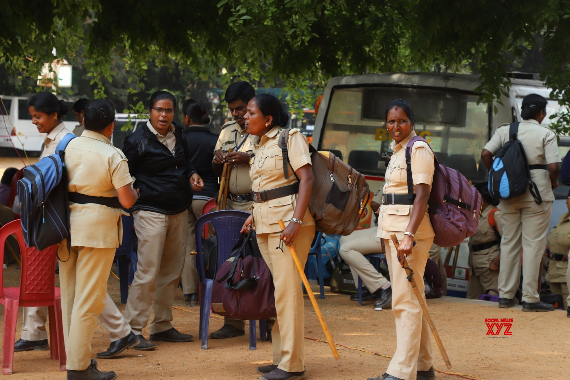 Bengaluru: 2019 Lok Sabha elections - Polling officials leave for their respective polling stations (Batch - 4) #Gallery