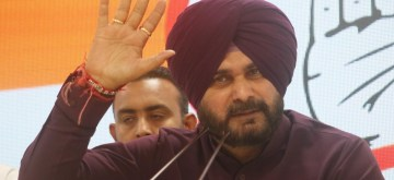 New Delhi: Punjab Minister and Congress leader Navjot Singh Sidhu addresses a press conference in New Delhi, on April 20, 2019. (Photo: IANS)