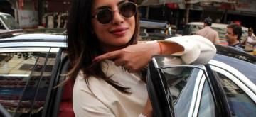 Mumbai: Actress Priyanka Chopra Jonas casts her vote for the 2019 Lok Sabha Elections at Versova polling booth in Mumbai, on April 29, 2019. (Photo: IANS)