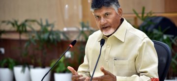 Vijayawada: Andhra Pradesh Chief Minister N. Chandrababu Naidu addresses a press conference, in Vijayawada, on May 5, 2019. (Photo: IANS)