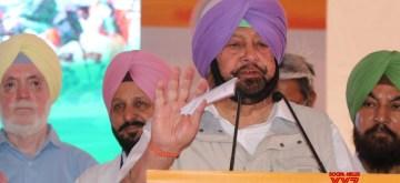 Samana: Punjab Chief Minister Captain Amarinder Singh addresses a public rally at Samana in Punjab's Patiala, on May 8, 2019. (Photo: IANS)