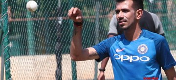 Bengaluru: India's Yuzvendra Chahal during a practice session ahead of the 2nd T20I match against Australia M Chinnaswamy Stadium in Bengaluru, on Feb 26, 2019. (Photo: IANS)