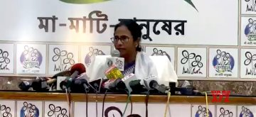 Kolkata: West Bengal Chief Minister Mamata Banerjee addresses a press conference in Kolkata on May 15, 2019. (Photo: IANS)