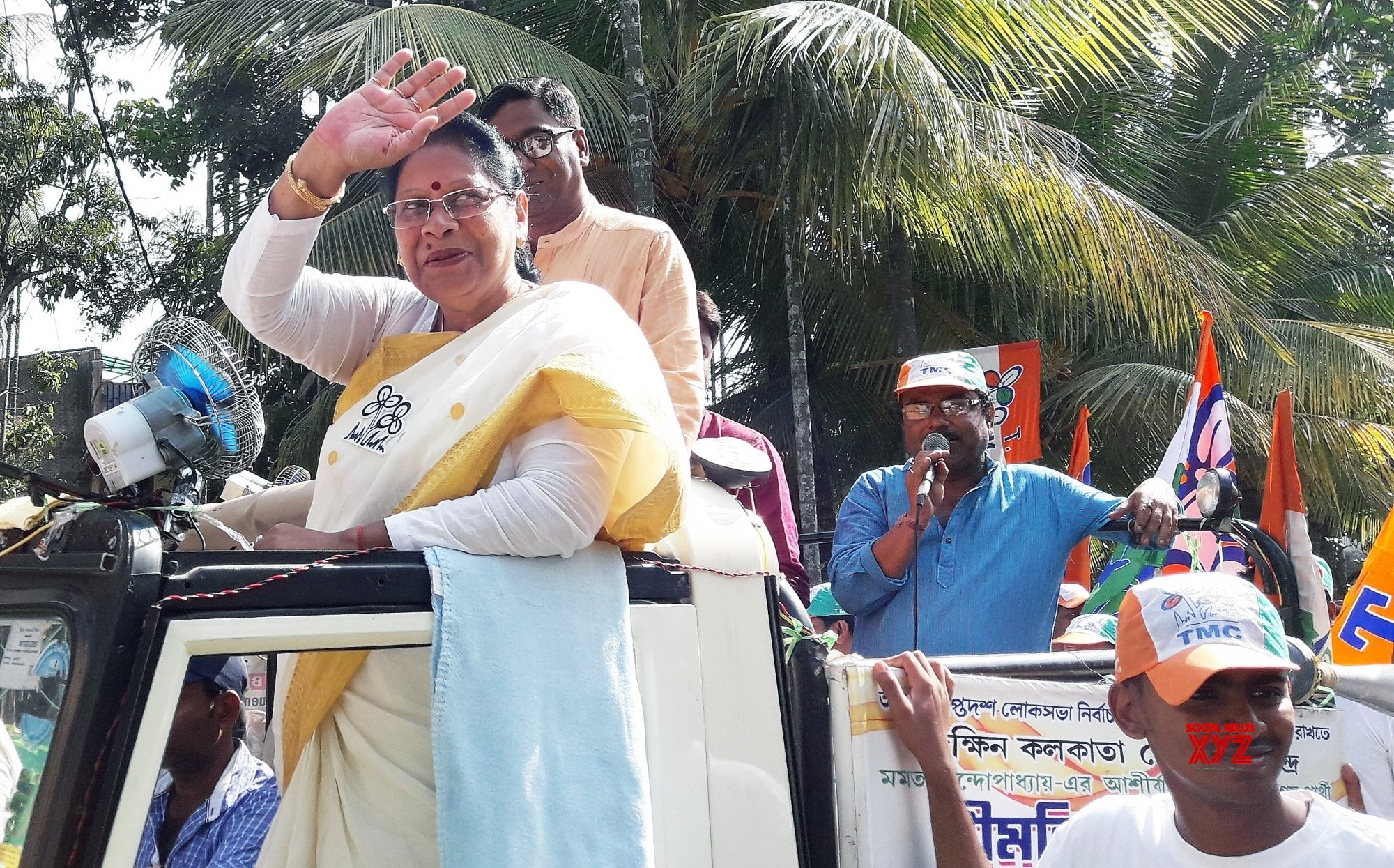 Kolkata: Mala Roy during election campaign #Gallery