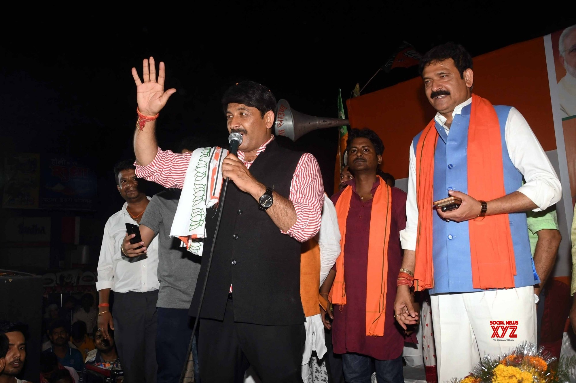 Patna: Manoj Tiwari's rally #Gallery