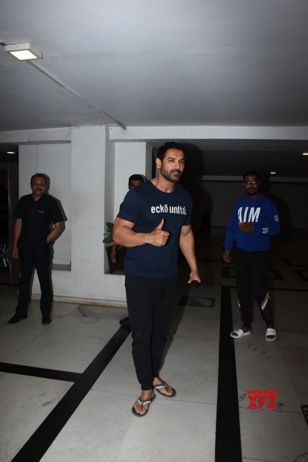 Mumbai: John Abraham seen outside Karan Johar's house #Gallery
