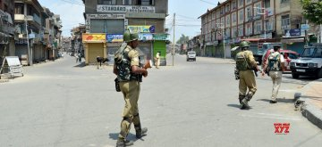 Shutdown in Srinagar. (File Photo: IANS)