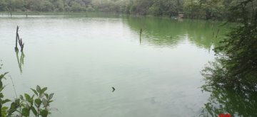 New Delhi: A view of the serene waters of the Hauz Khas lake in New Delhi, on May 17, 2019. (Photo: IANS)