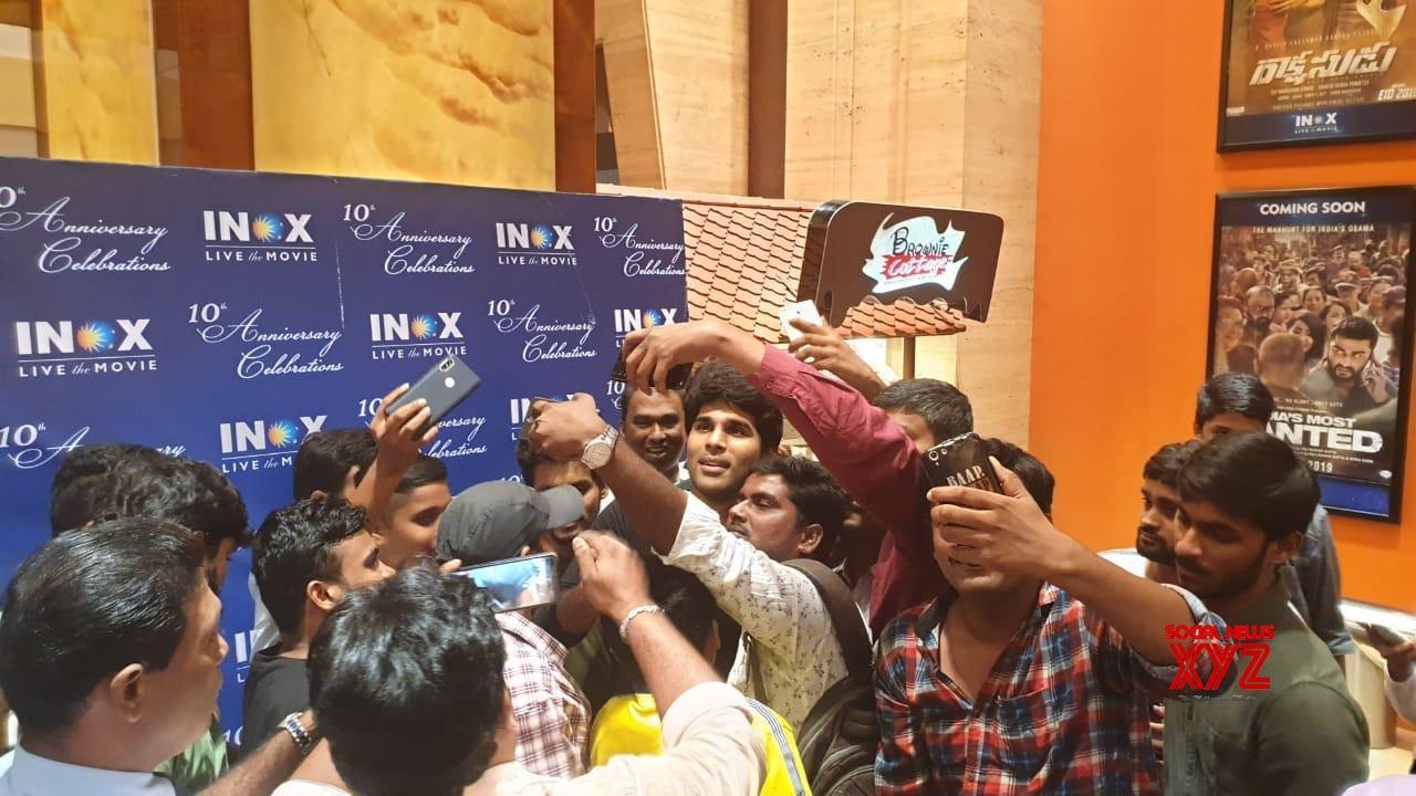 Allu Sirish Stills From Inox Hyderabad Playing ABCD Movie