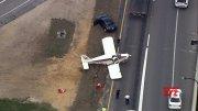 Emergency rush hour landing on Florida highway  (Video)