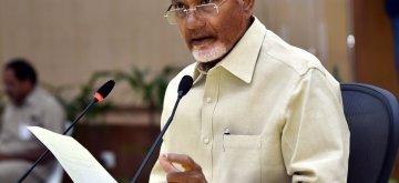 Vijayawada: Andhra Pradesh Chief Minister N. Chandrababu Naidu addresses a press conference, in Vijayawada, on May 5, 2019. (Photo: IANS)
