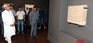 Patna: Bihar Chief Minister Nitish Kumar during his visit to the Bihar Museum, in Patna on May 21, 2019. (Photo: IANS)