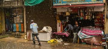Ajmer: Ajmer witnesses rains accompanied by hail, on May 24, 2019. (Photo: Shaukat Ahmed/IANS)