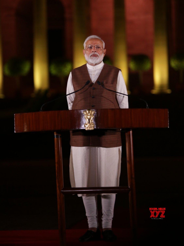 New Delhi: PM Modi at Rashtrapati Bhavan #Gallery