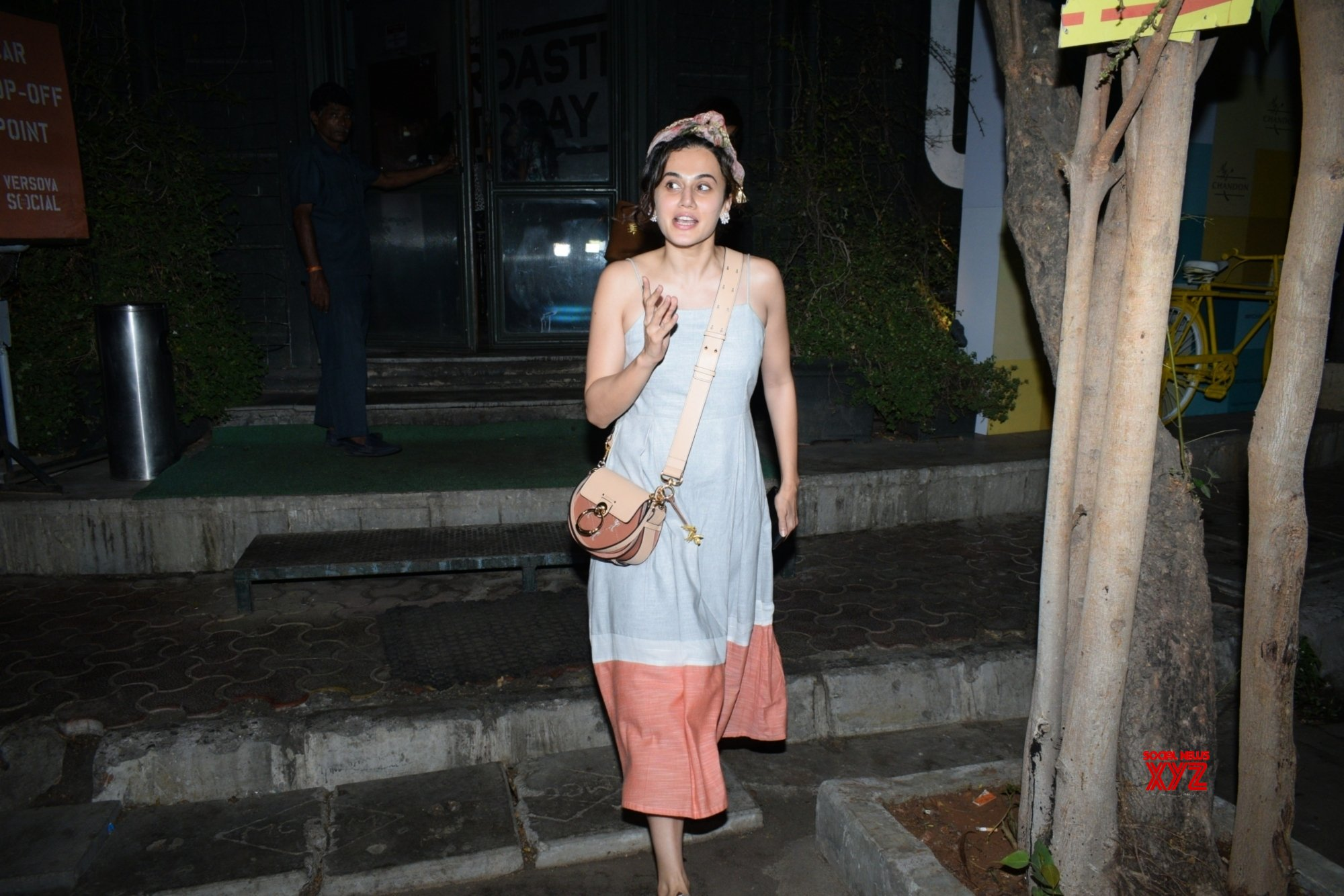 Mumbai: Taapsee Pannu seen at Versova #Gallery