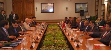 Male: Prime Minister Narendra Modi and Maldives President Ibrahim Mohamed Solih during delegation level talks in Male, on June 8, 2019. (Photo: IANS/MEA)