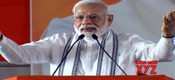 Tirupati: Prime Minister Narendra Modi addresses a public meeting in Tirupati, Andhra Pradesh on June 9, 2019. (Photo: IANS)