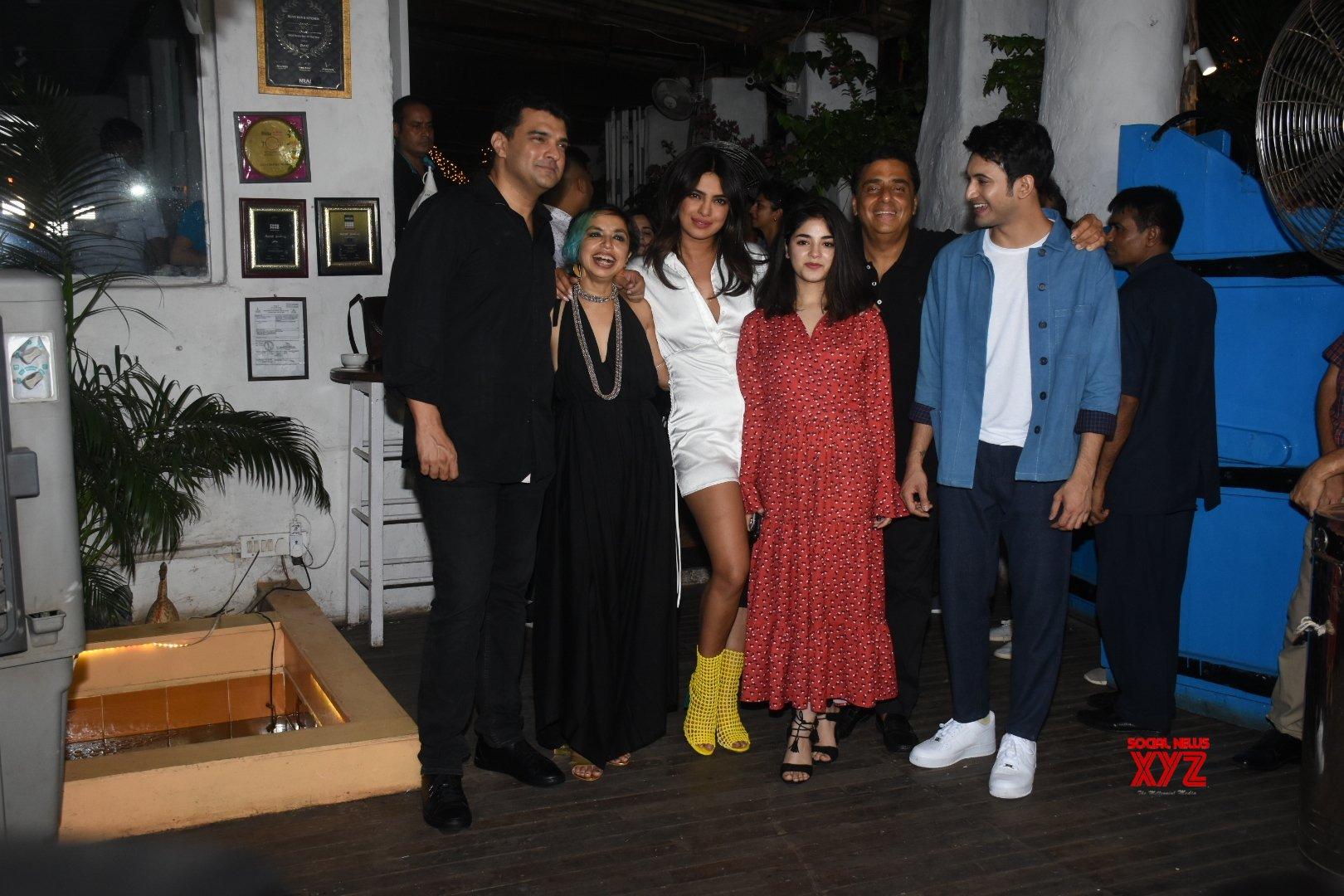 "Mumbai: Film ""The Sky Is Pink"" wrap - up party - Priyanka Chopra, Zaira Wasim, Rohit Saraf, Shonali Bose, Ronnie Screwvala, Siddharth Roy Kapur #Gallery"