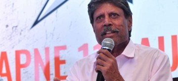 New Delhi: Former Indian cricketer Kapil Dev addresses at the launch of 'Apne 11' - a daily fantasy sports platform, in New Delhi on June 12, 2019. (Photo: IANS)