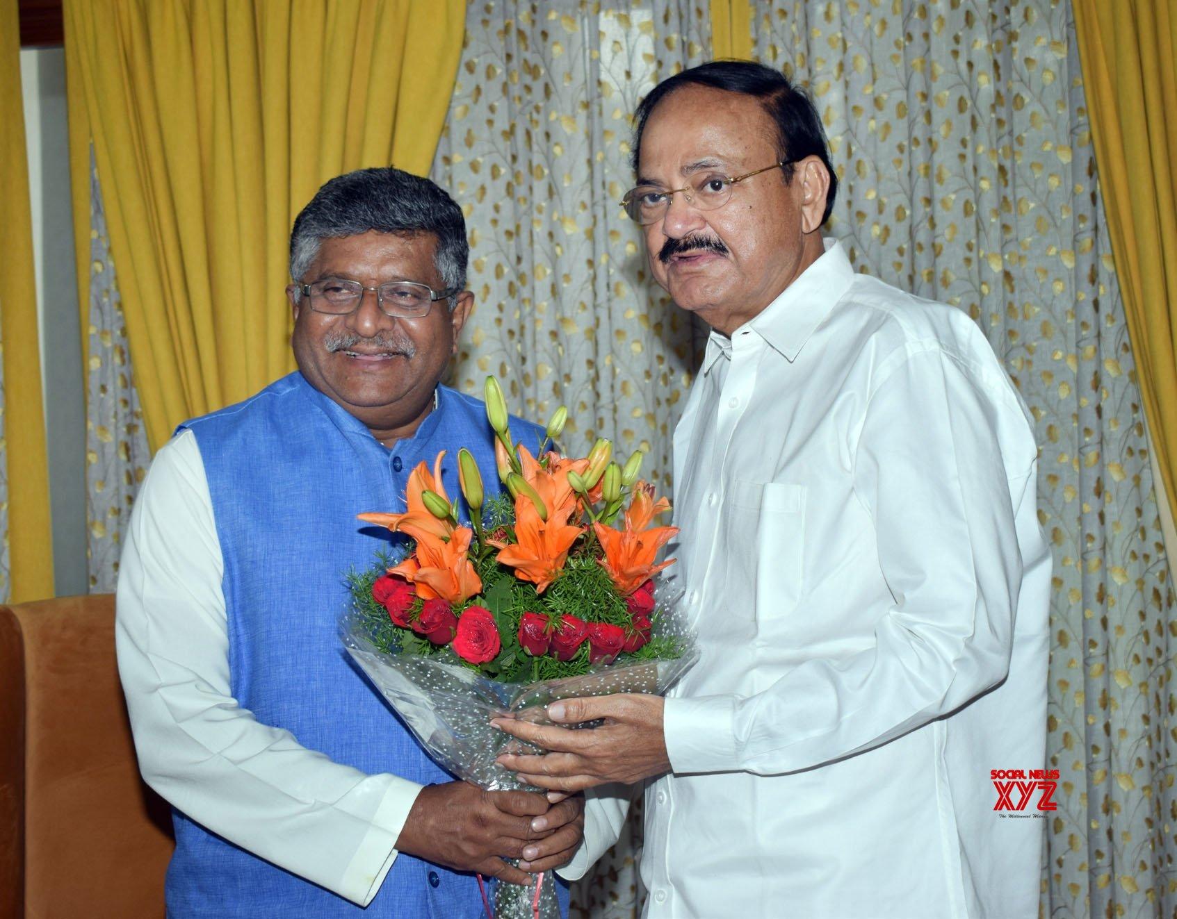 New Delhi: Ravi Shankar Prasad meets Venkaiah Naidu #Gallery