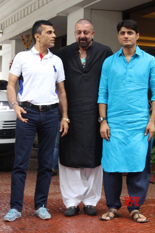 Mumbai: Sanjay Dutt at Anand Pandit's residence #Gallery