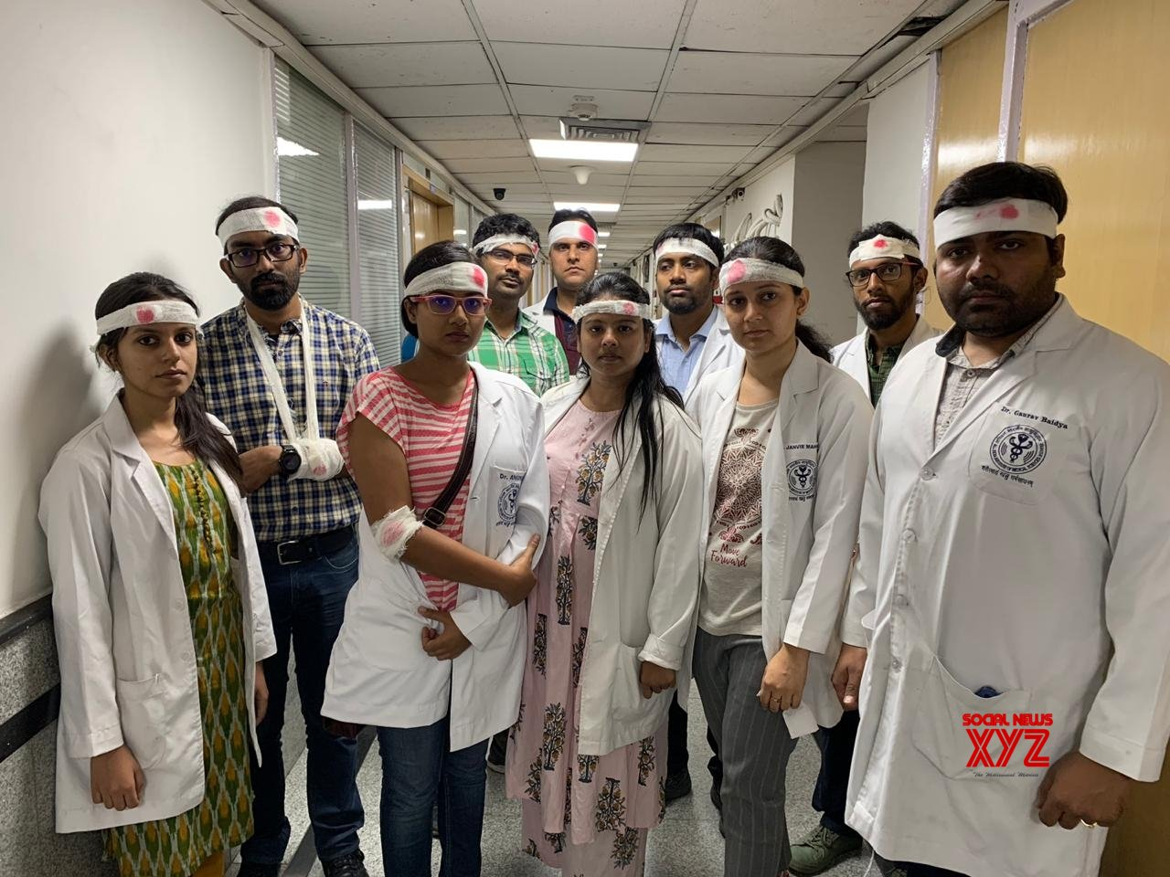 New Delhi: AIIMS doctors protest against attack on doctors in Kolkata #Gallery