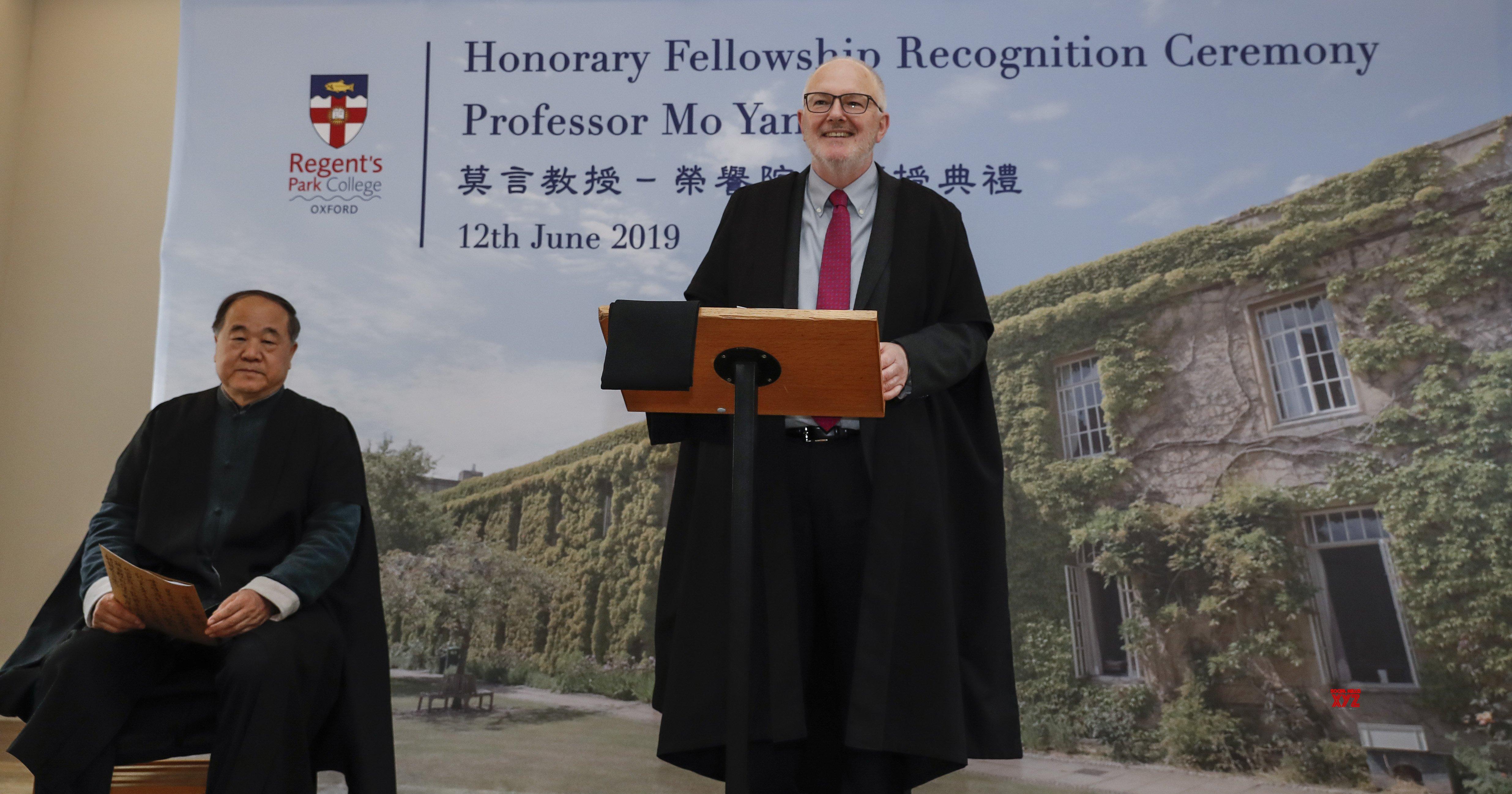 BRITAIN - OXFORD - CHINESE NOBEL LAUREATE - MO YAN - HONORARY FELLOWSHIP #Gallery