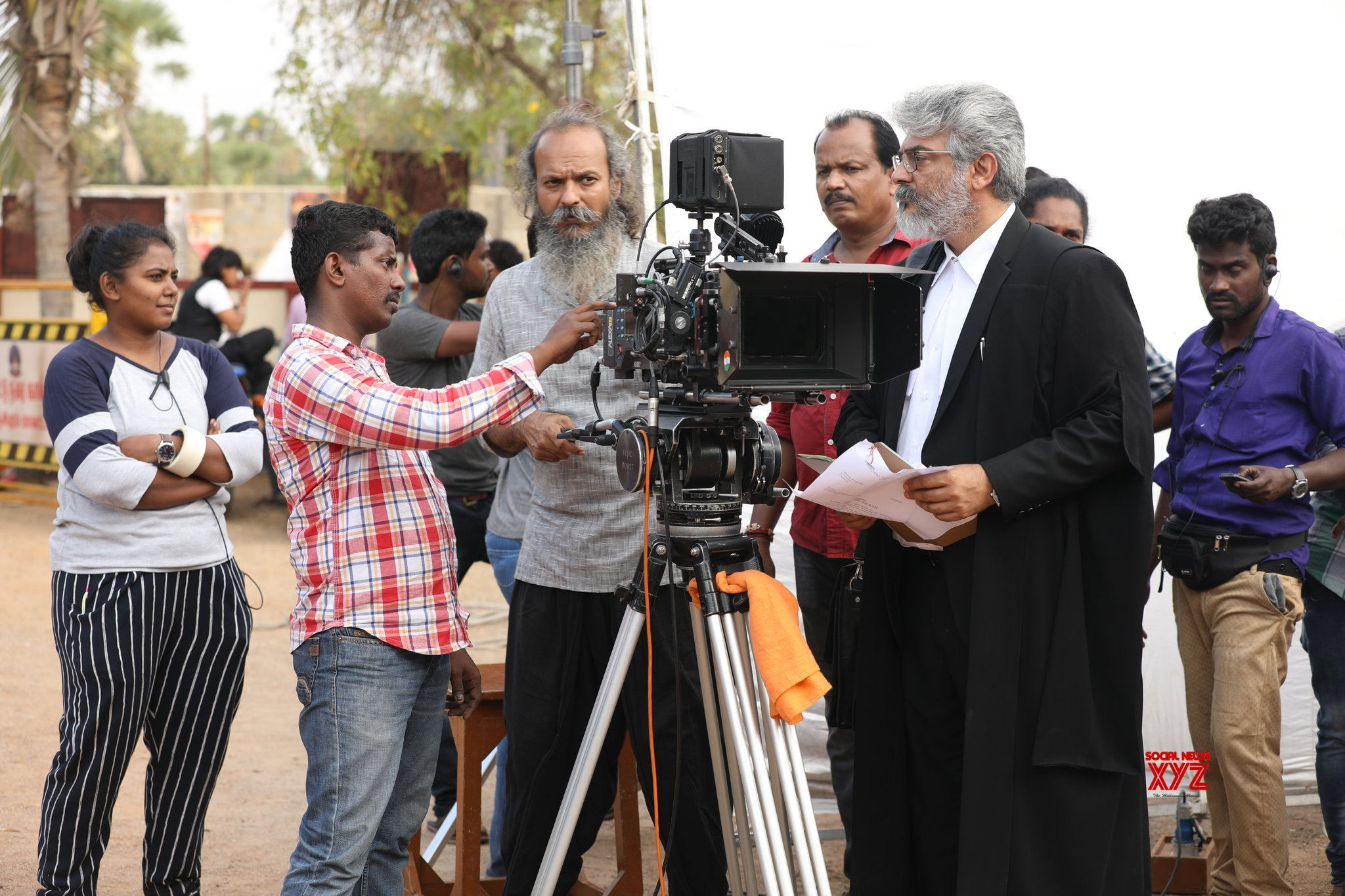 Nerkonda Paarvai Movie New Working Stills