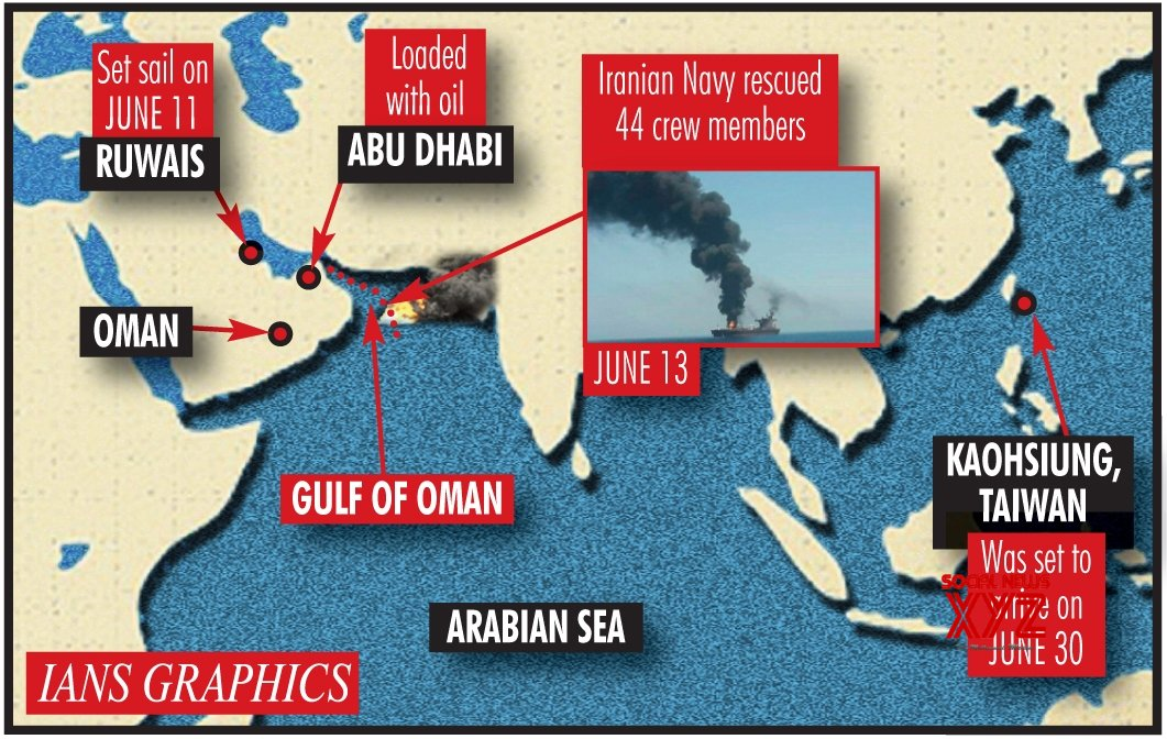2 oil tankers hit in Gulf of Oman, crew evacuated
