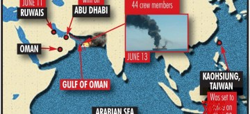 Infographics: 2 oil tankers hit in Gulf of Oman, all crew evacuated. (IANS Infographics)