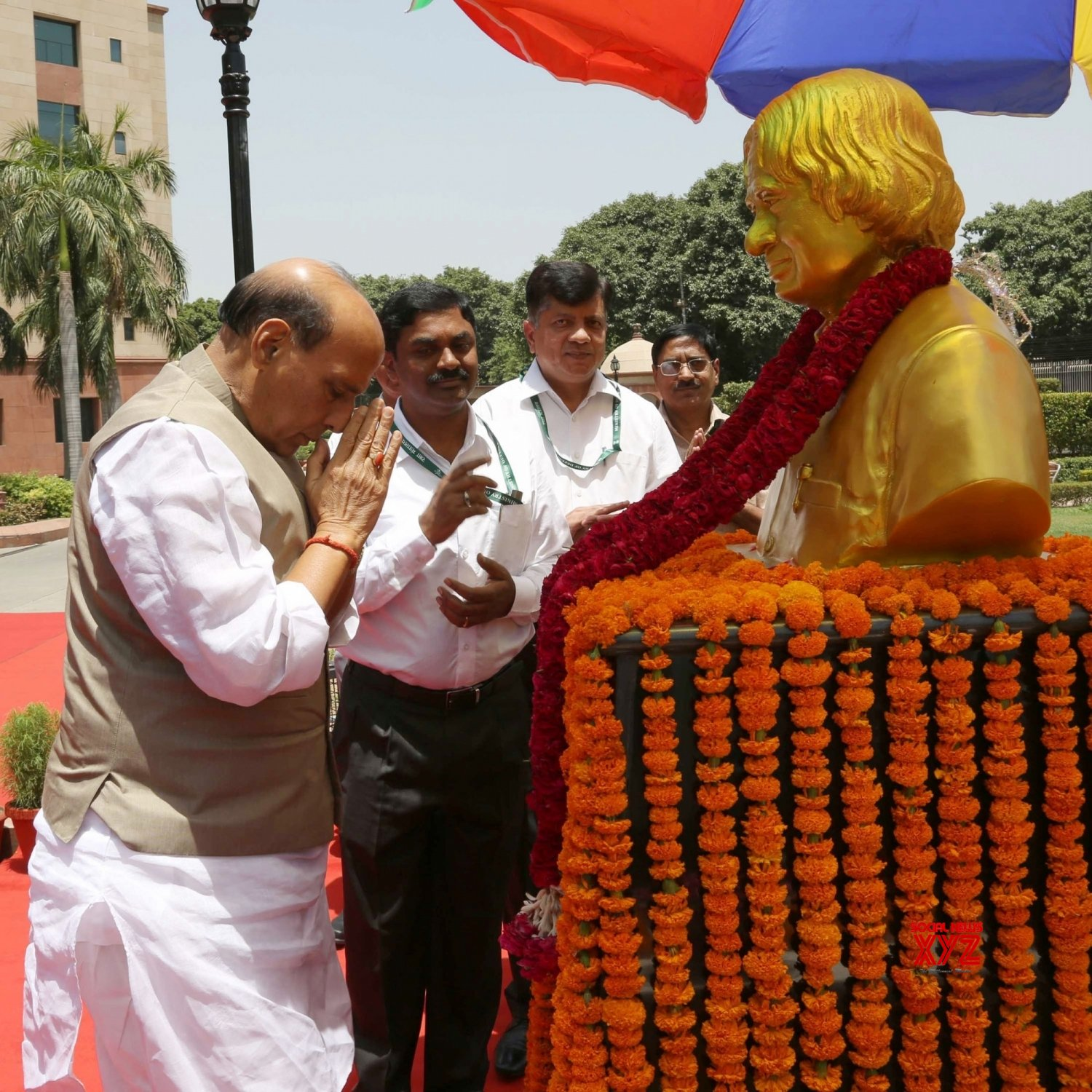 New Delhi: Rajnath Singh pays homage to Kalam #Gallery