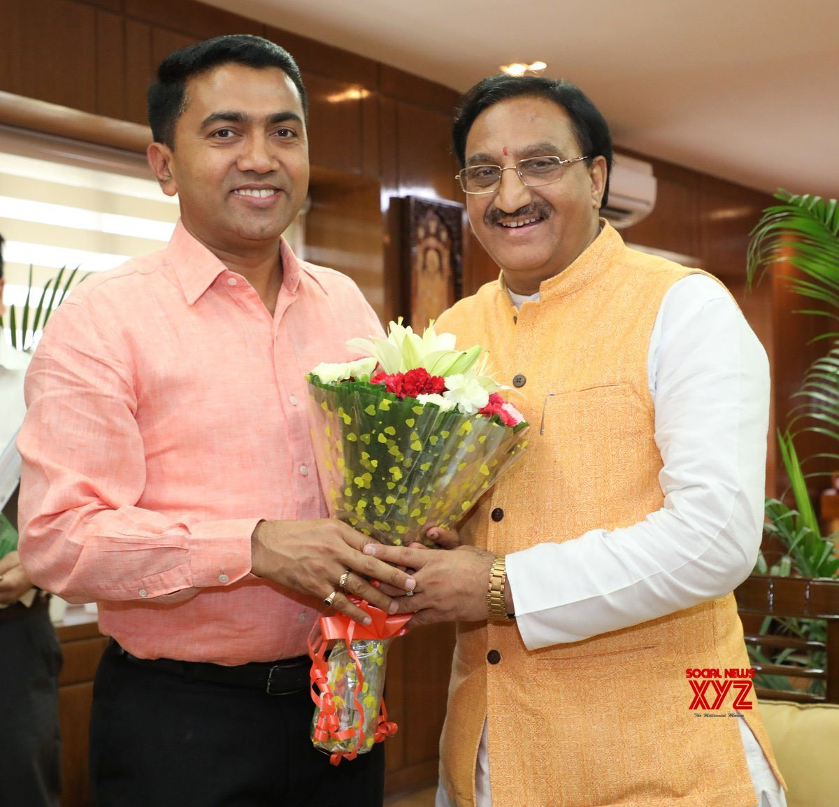 New Delhi: Goa CM meets Ramesh Pokhriyal #Gallery