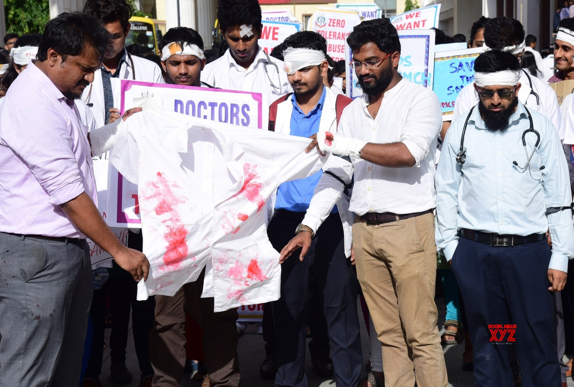 Bengaluru: Karnataka medicos protest against attack on doctors #Gallery