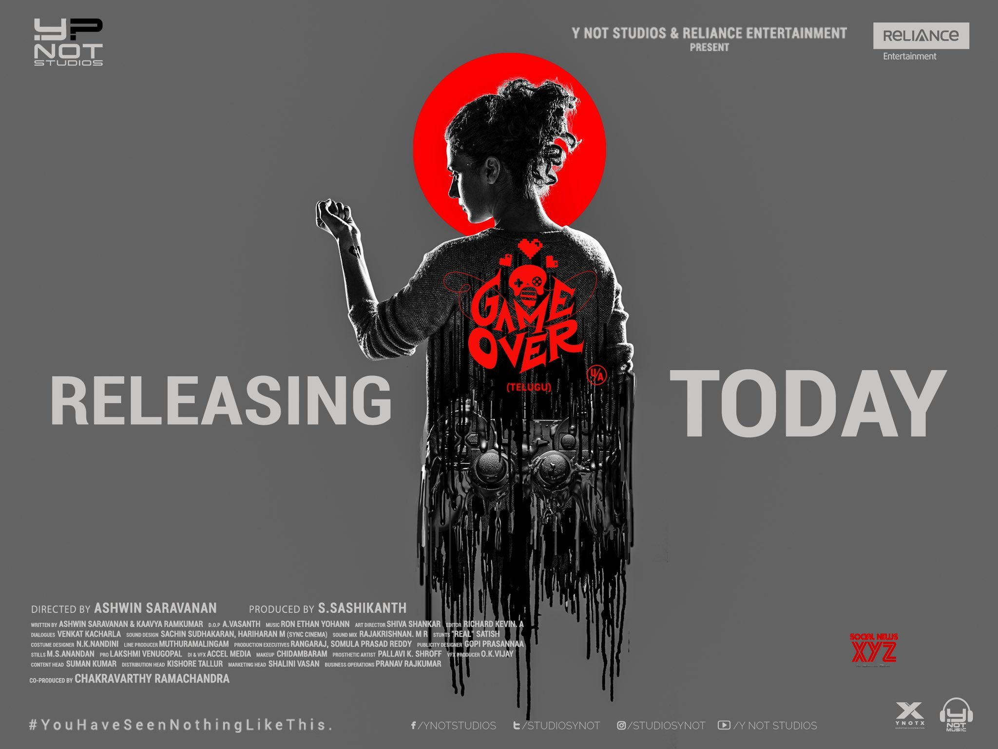Game Over Movie Releasing Today Posters
