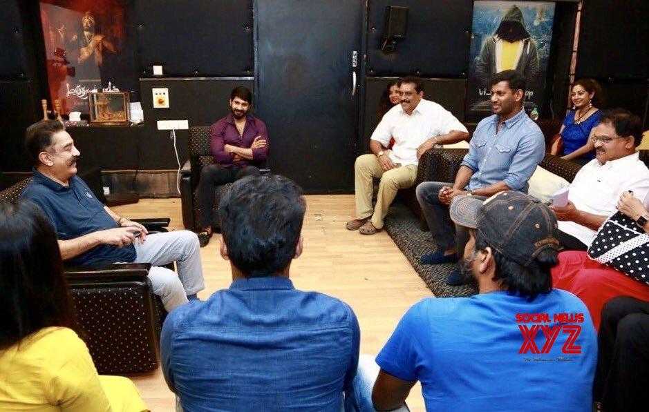 Paandavar Ani Met Kamal Haasan Regarding The Upcoming Nadigar Sangam Election 2019