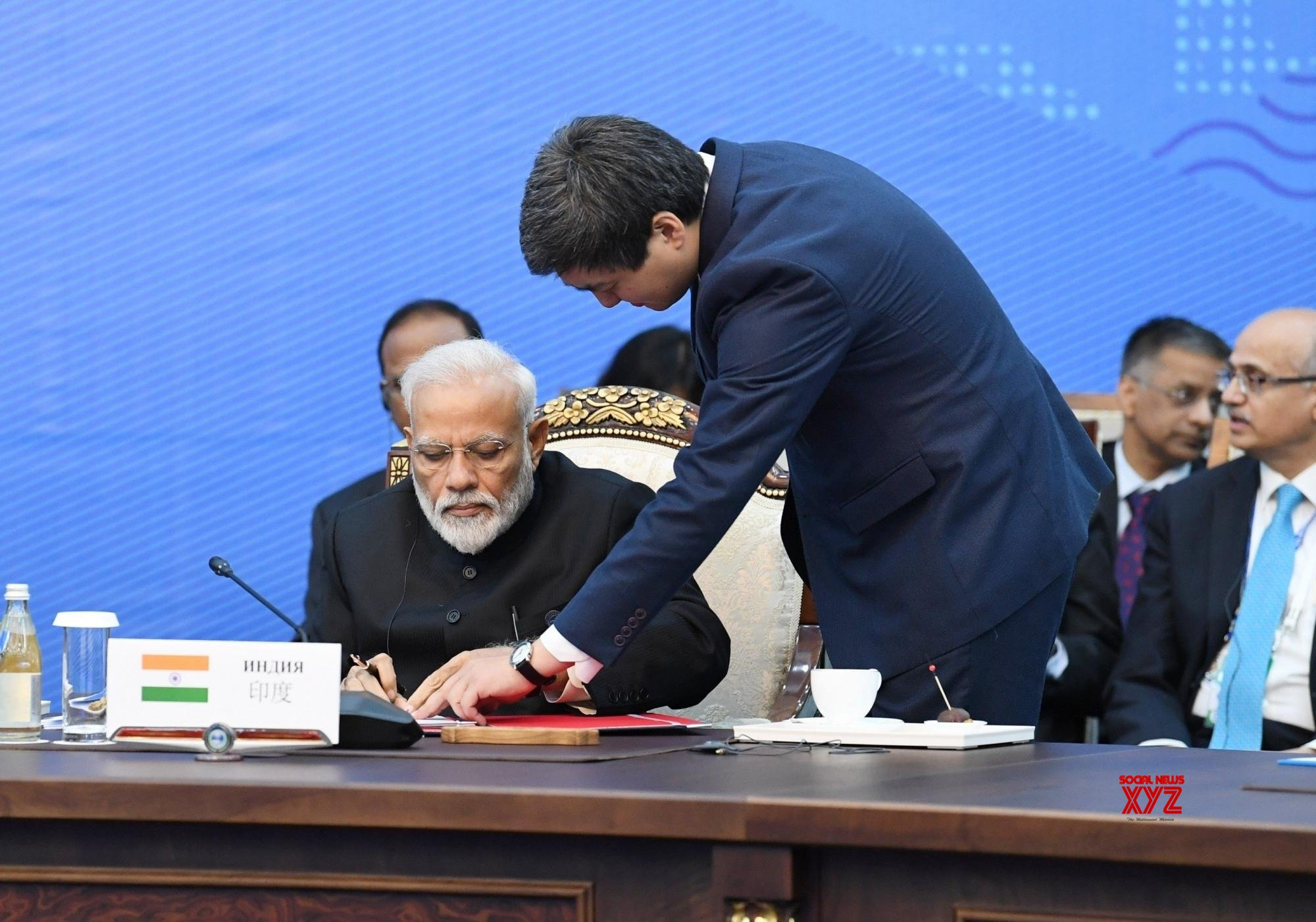 Bishkek (Kyrgyzstan): PM Modi signs documents at 2019 SCO Summit #Gallery