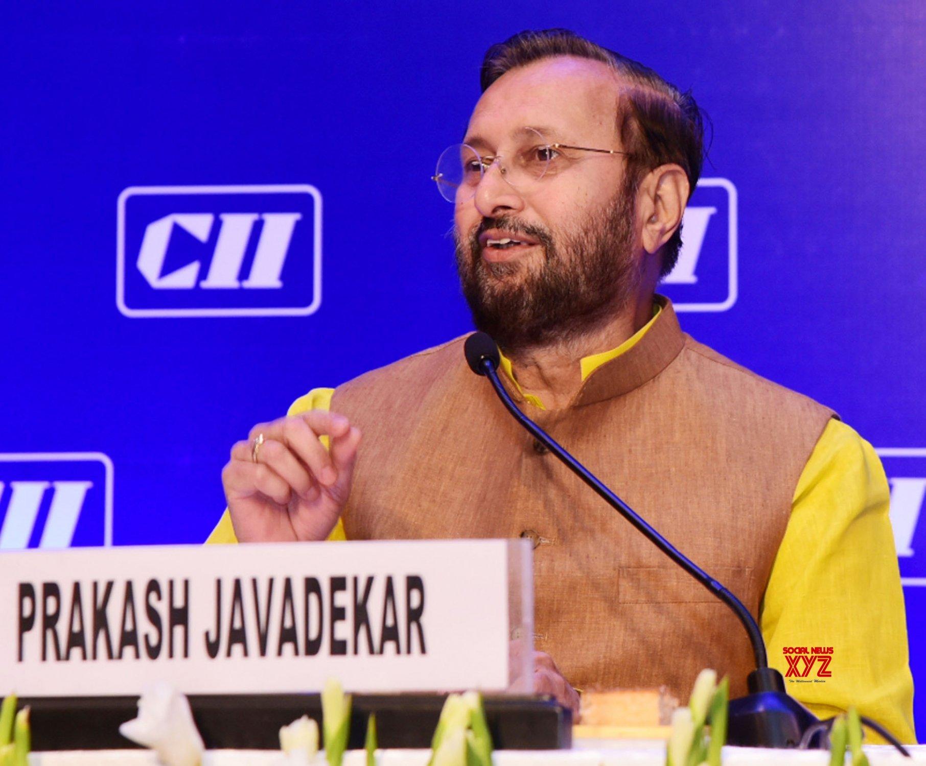 New Delhi: Prakash Javadekar at the National Council Meeting of CII #Gallery