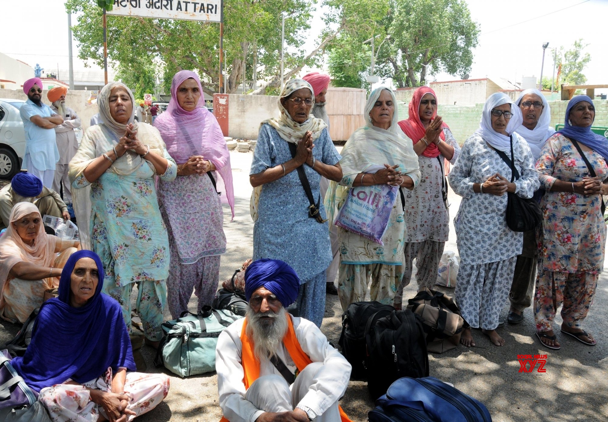 Attari: Pakistan - bound Sikh pilgrims stranded at Attari station #Gallery