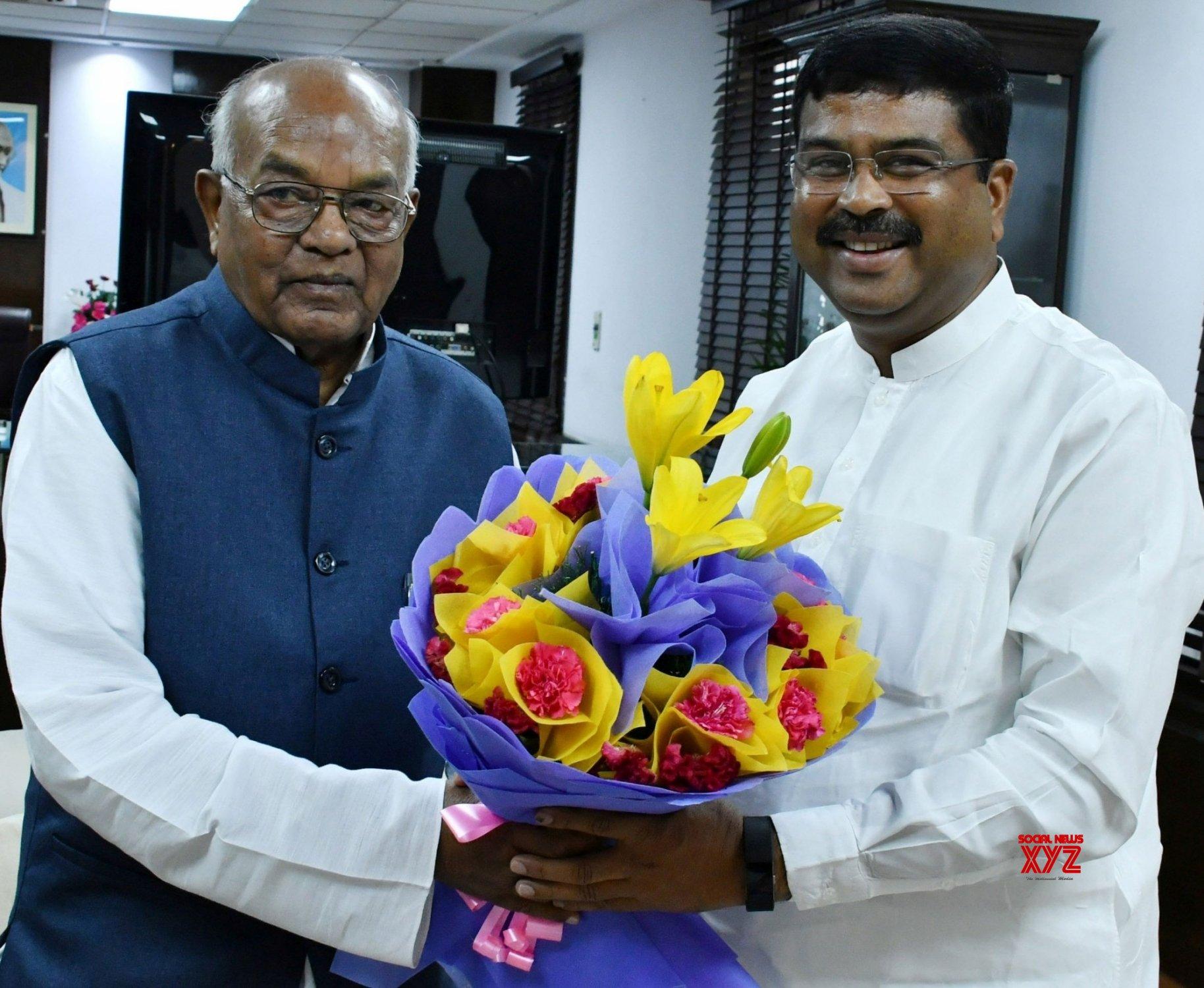 New Delhi: Haryana Governor meets Dharmendra Pradhan #Gallery