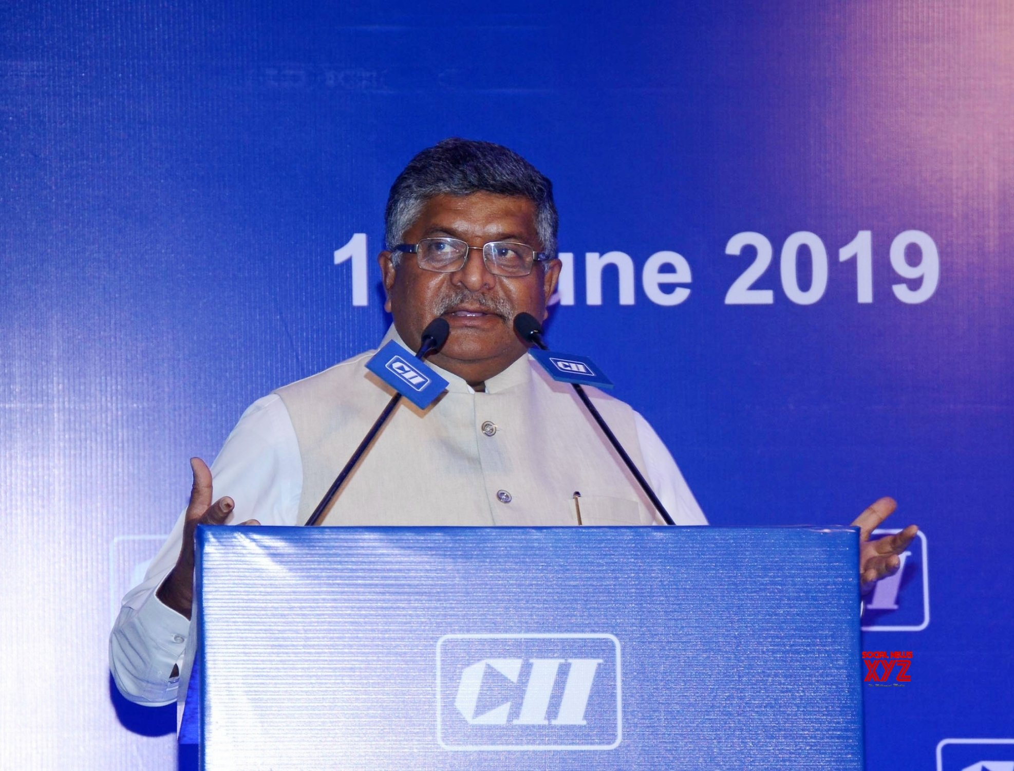 New Delhi: Ravi Shankar Prasad at the National Council Meeting of CII #Gallery