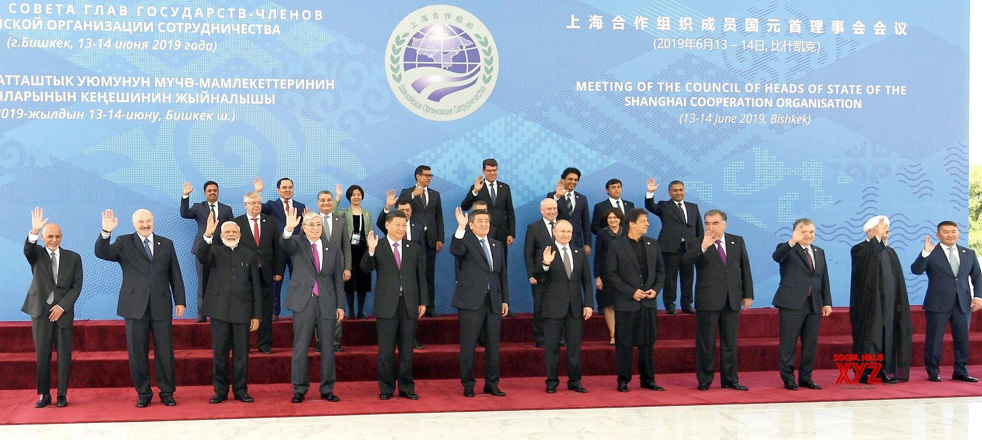 Bishkek: PM Modi with SCO leaders at 2019 Shanghai Cooperation Organization Summit (Batch - 2) #Gallery