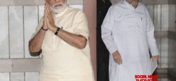 New Delhi: Prime Minister Narendra Modi and Union Home Affairs Minister Amit Shah seen after NDA meeting in New Delhi, on June 16, 2019. (Photo: Amlan Paliwal/IANS)