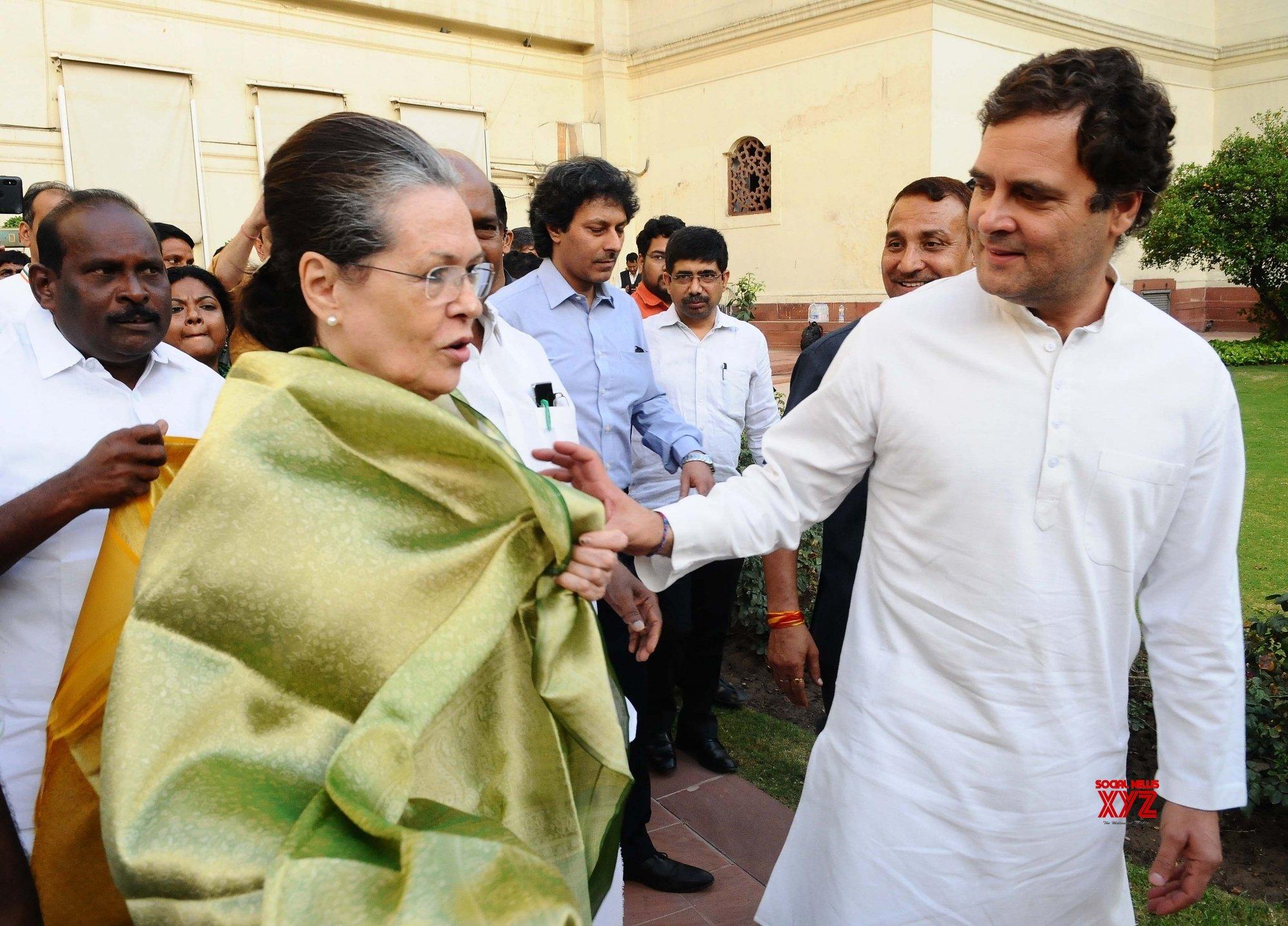 New Delhi: Rahul Gandhi, Sonia Gandhi after UPA leaders' meeting #Gallery