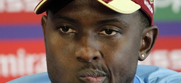 Manchester: West Indies captain Jason Holder during a press conference ahead of the World Cup 2019 match against India at Old Trafford Stadium in Manchester, England on June 26, 2019. (Photo: Surjeet Yadav/IANS)