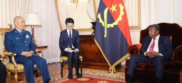 LUANDA, June 26, 2019 (Xinhua) -- Angolan President Joao Lourenco (R) meets with visiting Vice Chairman of China's Central Military Commission Xu Qiliang in Luanda June 25, 2019. (Xinhua/Wu Changwei/IANS)