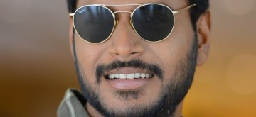 "Hyderabad: Actor Sundeep Kishan during a photo-shoot at the media interaction for his upcoming Telugu film ""Ninu Veedani Needanu Nene"" in Hyderabad on July 8, 2019. (Photo: IANS)"
