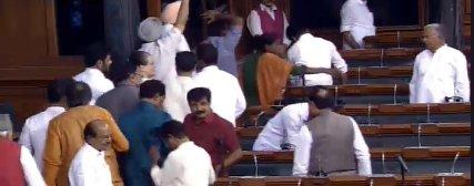 Opposition walks out of Lok Sabha over Karnataka