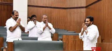 Amaravati: Andhra Pradesh Chief Minister Y.S. Jagan Mohan Reddy at the state assembly in Amaravati on July 11, 2019. (Photo: IANS)